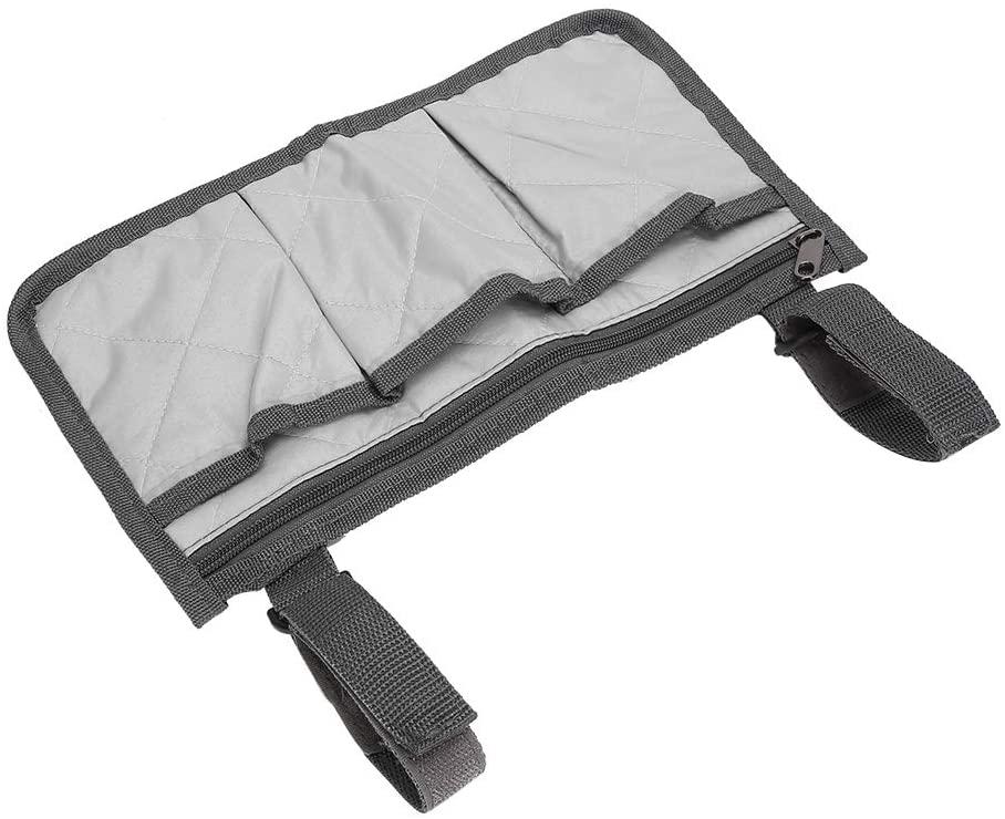 Durable Wheelchair Pouch Practical Wheelchair Bag Easy to Install Old Men Wheelchair Supplies Wheelchair Accessories Senior(Gray)