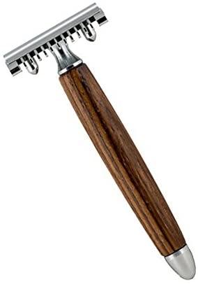 Zebrano - Open Comb Wood Handle Razor 42113 Razor by Fatip