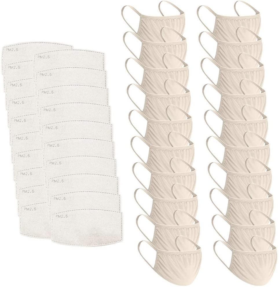 20pcs+20pcs Filter Children's Solid Color Breathable Washable Reusable Protection (H)