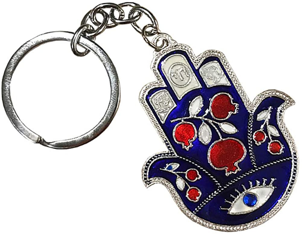 BT Lucky Hamsa Evil Eye Good Luck Keychain Ring, Handbag Charm for Good Luck and Blessing, Great Gift Idea