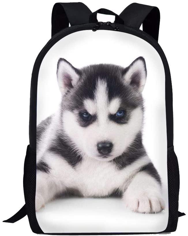 Dog Print Backpack Rucksack School Bag for Boys Girls Women Men Teens Kids