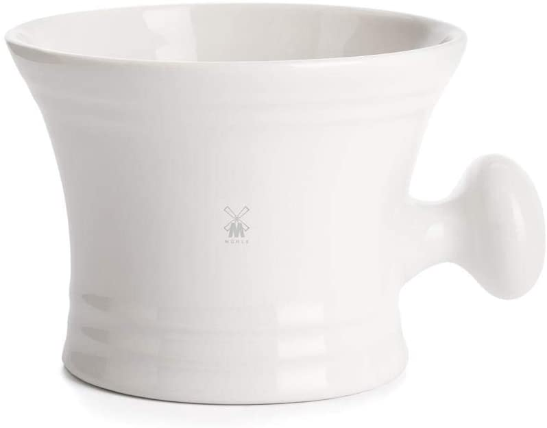 MÜHLE White Porcelain Shaving Bowl with Handle (RN4)