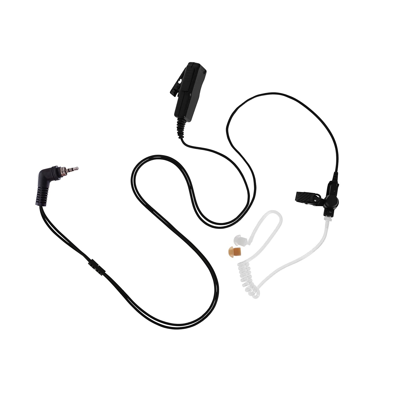 Maxtop ASK4032-M15 2-Wire Acoustic Ear Tube Surveillance Kit for Motorola MTH650 MTH800 MTH850