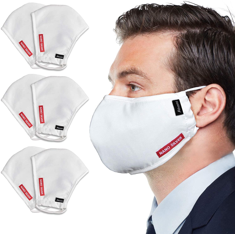 Nano Silver Faces-Masks, 3 Layers, Premium Cotton Fabric, Washable & Reusable