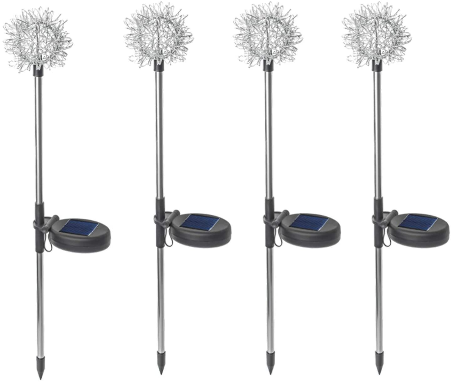 Dandelion Lamp,4Pcs Solar Powered LED Stake Light,Outdoor Lamps for Lawn Garden Wedding Party - Colorful Light