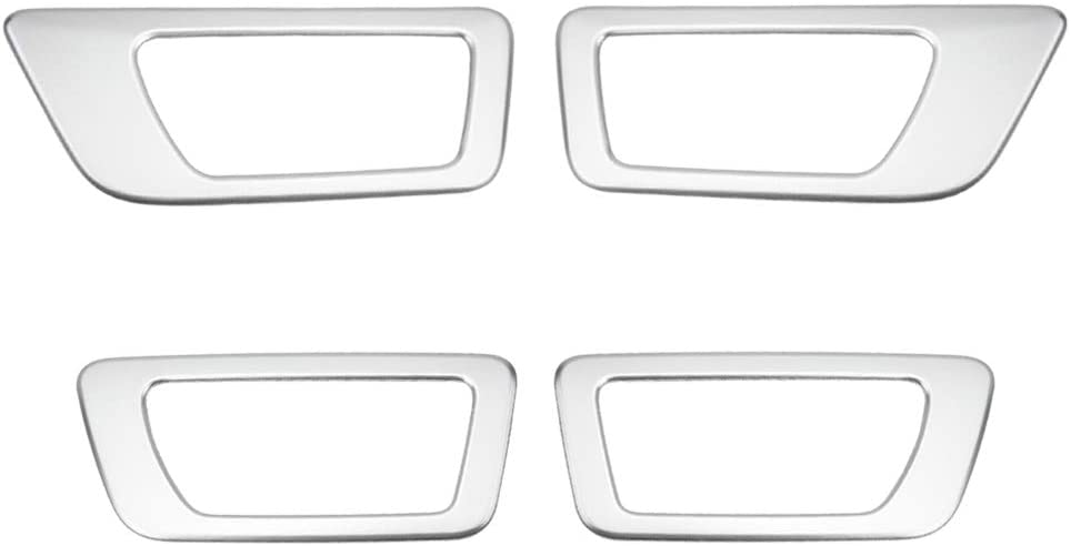 Senzeal ABS Inner Door Handle Bowl Trim Panel Cover Fit for Toyota Highlander 2014 2015 2016 2017 2018 2019 (Low Configuration)