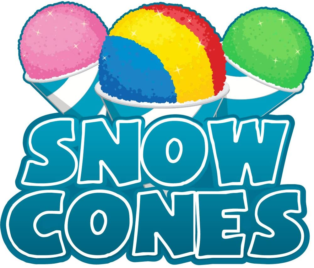 Snow Cones 48 Concession Decal Sign cart Trailer Stand Sticker Equipment