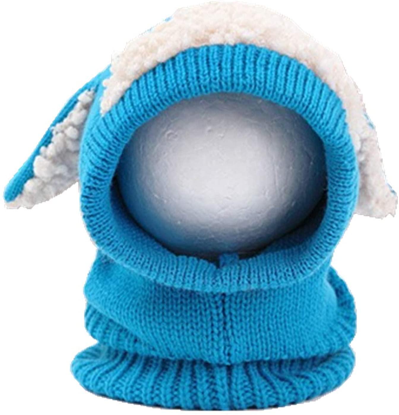ZffXH Baby Winter Scarf Hat Earflap Hood Skull Cap Stretch Knit Beanie Toddler Sheep