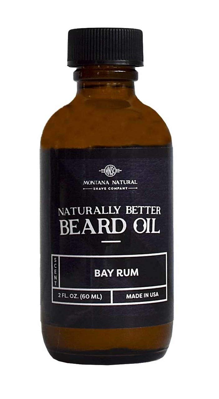 MNSC Naturally Better Bay Rum Beard Oil & Conditioner, Softens, Smooths & Strengthens Beard Growth, All-Natural, Plant-Derived, Made in USA