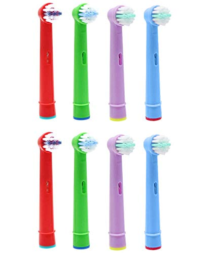 VINFANY 8PCS Kids Electric Toothbrush Heads for Oral B, Replacement Brush Heads for kids brush Heads Compatible with Sensitive Clean, Professional Care, Advanced Power