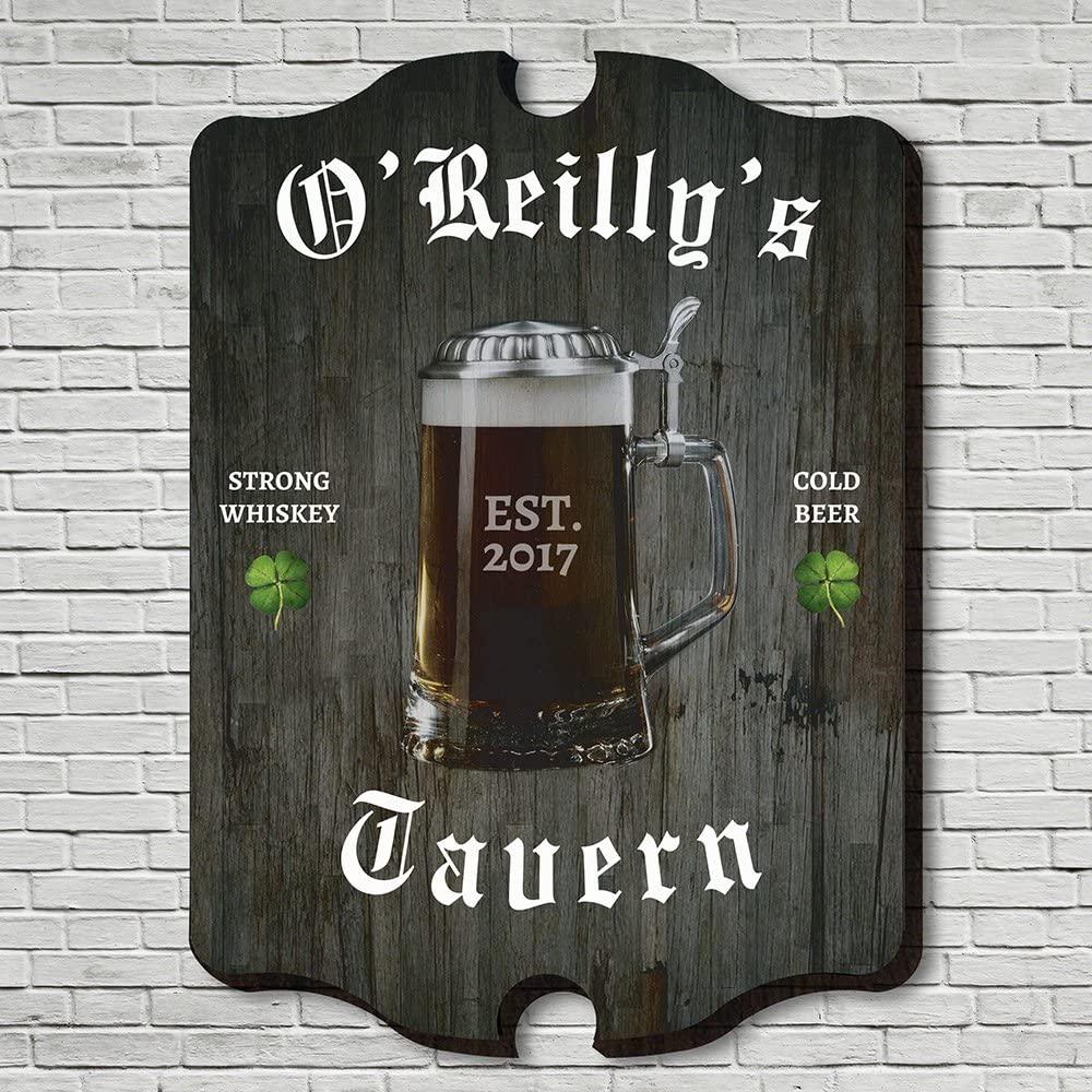HomeWetBar Old Irish Tavern Personalized Wall Sign(Large 21
