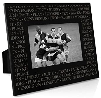 Rugby Terminology Frame | Engraved Rugby Picture Frame by ChalkTalk Sports | Horizontal 4X6
