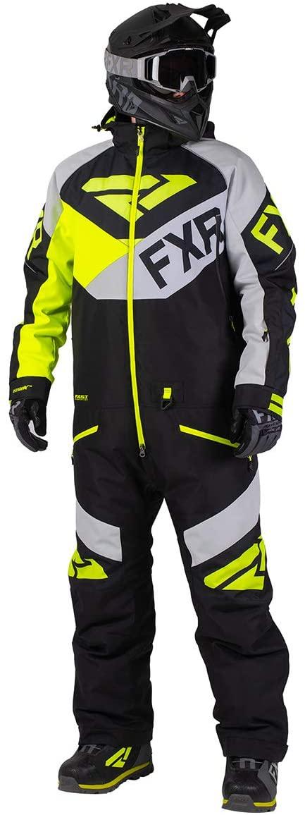 FXR Mens Fuel FX Monosuit (Black/Light Gray/Hi-Vis - Medium)