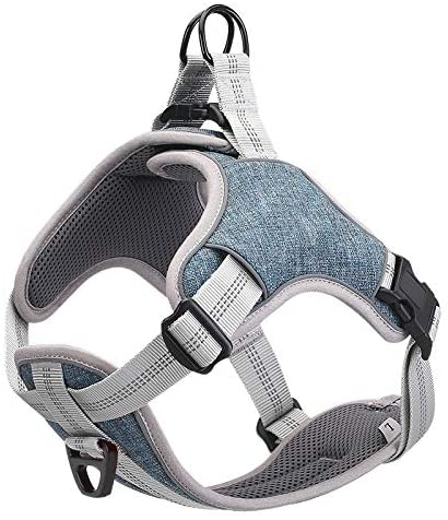 Dog Harness No Pull for Small Medium Large Dogs, Adjustable Dog Vest with Reflective Strips, Comfortable and Will Not Harm The Skin, Used for Daily Walking, Running, Training