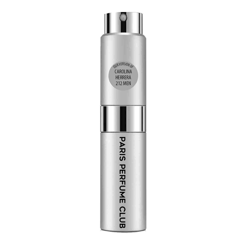 CA Perfume Club Our Version of 212 Men Travel Sample Size Refillable Atomizer Replica Designer Fragrance Eau de Parfum/Cologne Sprayer (0.27 Fl Oz/ 8ml)