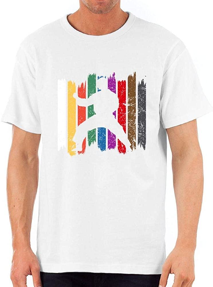 Vine2000 Karate Shirt for Men Funny Graphic Short Slevee Cool T-Shirt