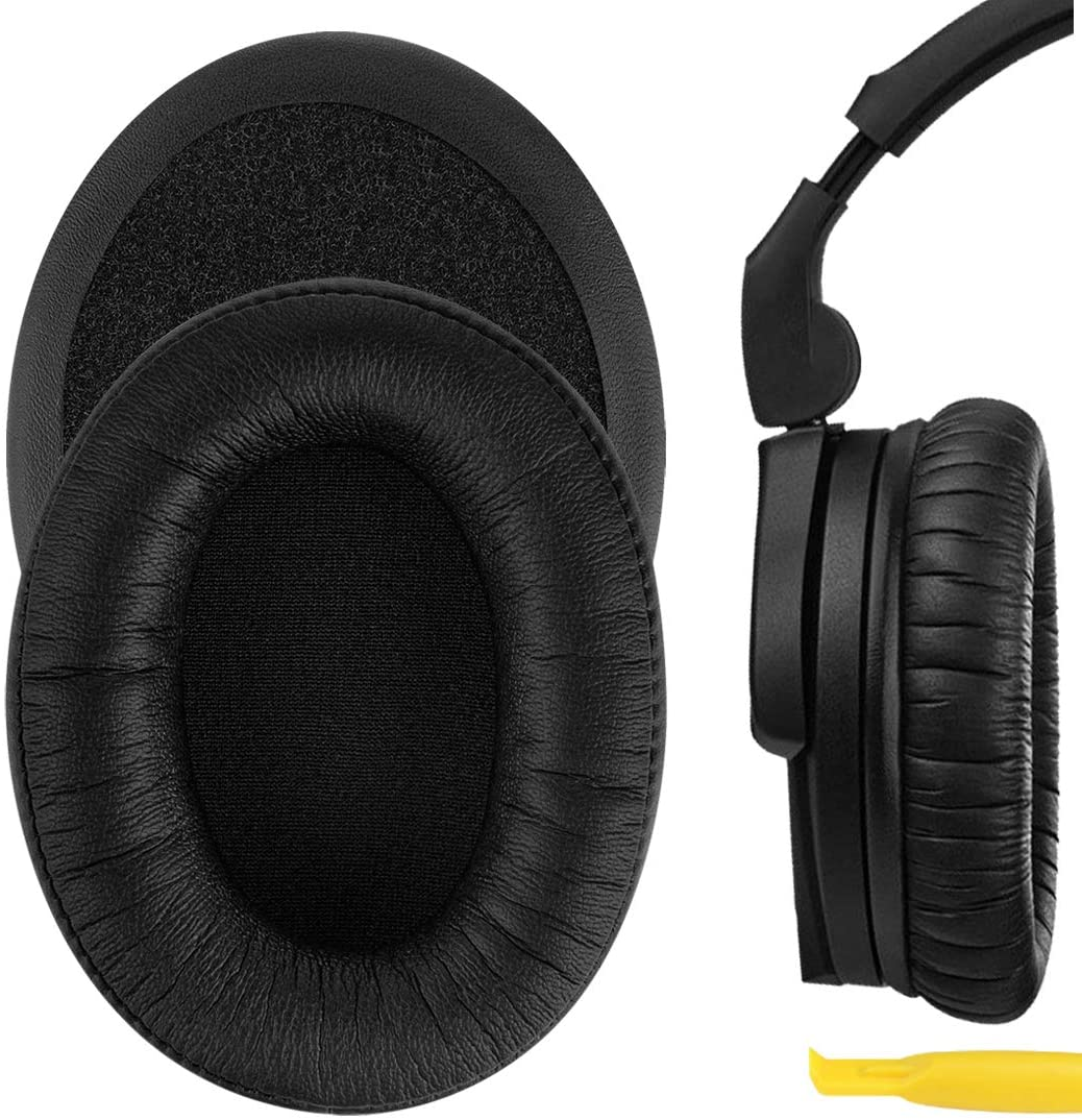 Geekria QuickFit Protein Leather Earpad Replacement for Senheiser HD280 HD280-Pro HD281 HMD280 HMD281 Ear Pad/Cushion/Ear Cups/Earpads Repair Parts (Black)