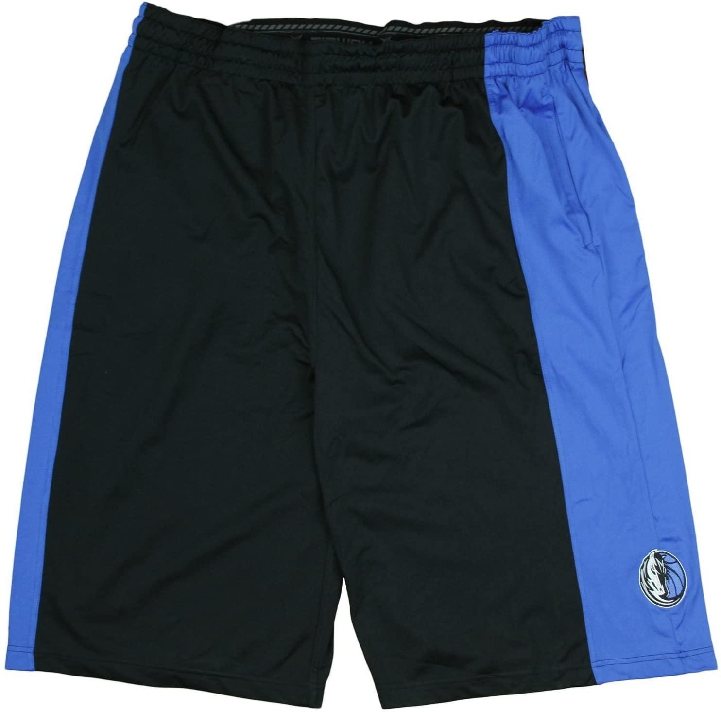 Zipway Dallas Mavericks NBA Big Mens Malone Shorts, Black