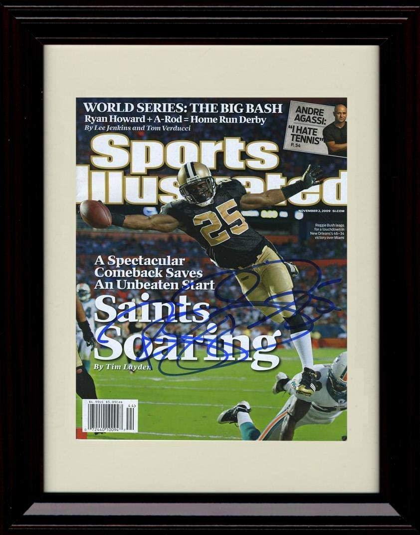 Framed Reggie Bush Autograph Replica Print - 2009 Sports Illustrated Cover