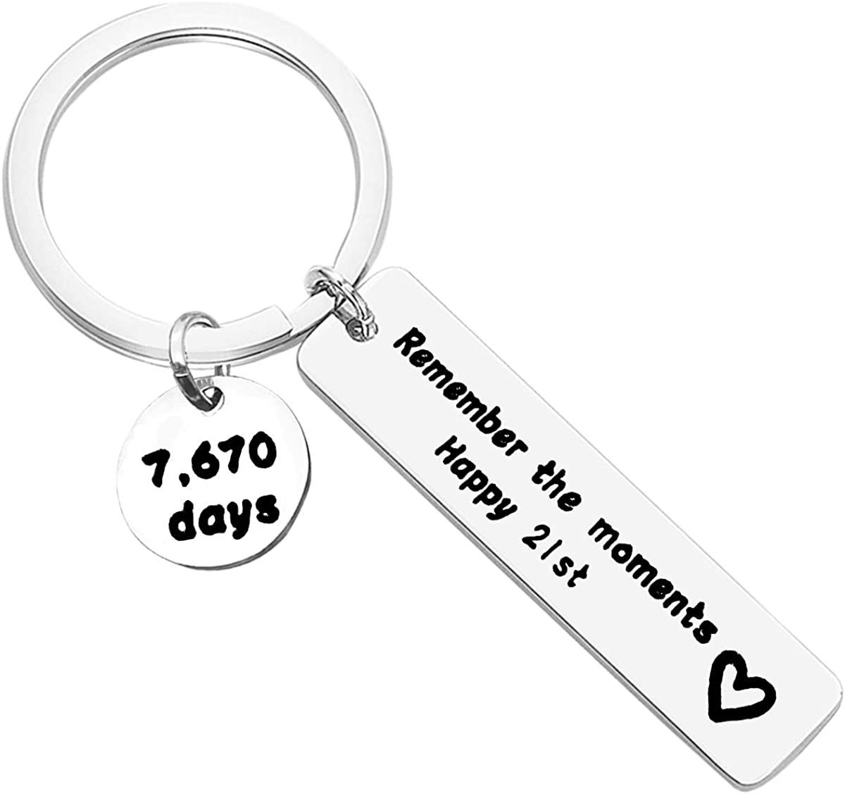 Happy Birthday Gift Remember The Moments Keychain Birthday Keychain 12th 16th 18th 21th 30th 40th 50th Keychain