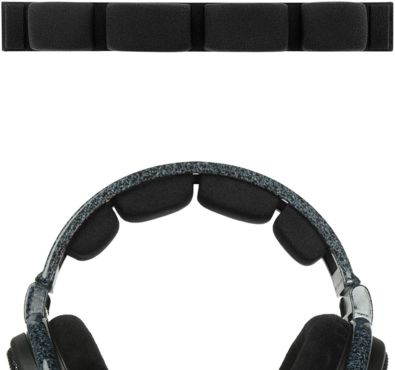Geekria Headband Pad Replacement for Senheiser HD600, HD580, HD650, HD660 S Headphone Replacement Headband/Headband Cushion/Replacement Pad Repair Parts (Black)