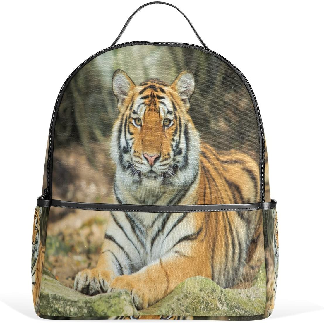 Use4 Tiger Scenery Polyester Backpack School Travel Bag