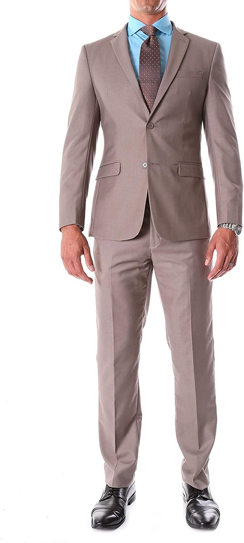 Ferrecci Mens Suits - Men Suits Slim Fit Notch Lapel Oslo 2 Piece Suit with Matching Flat-Front Dress Pants