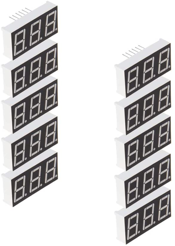 Othmro 5631A Common Cathode 2V 0.56 inch Black 12 pin LED Display Digital Tube 10 pcs