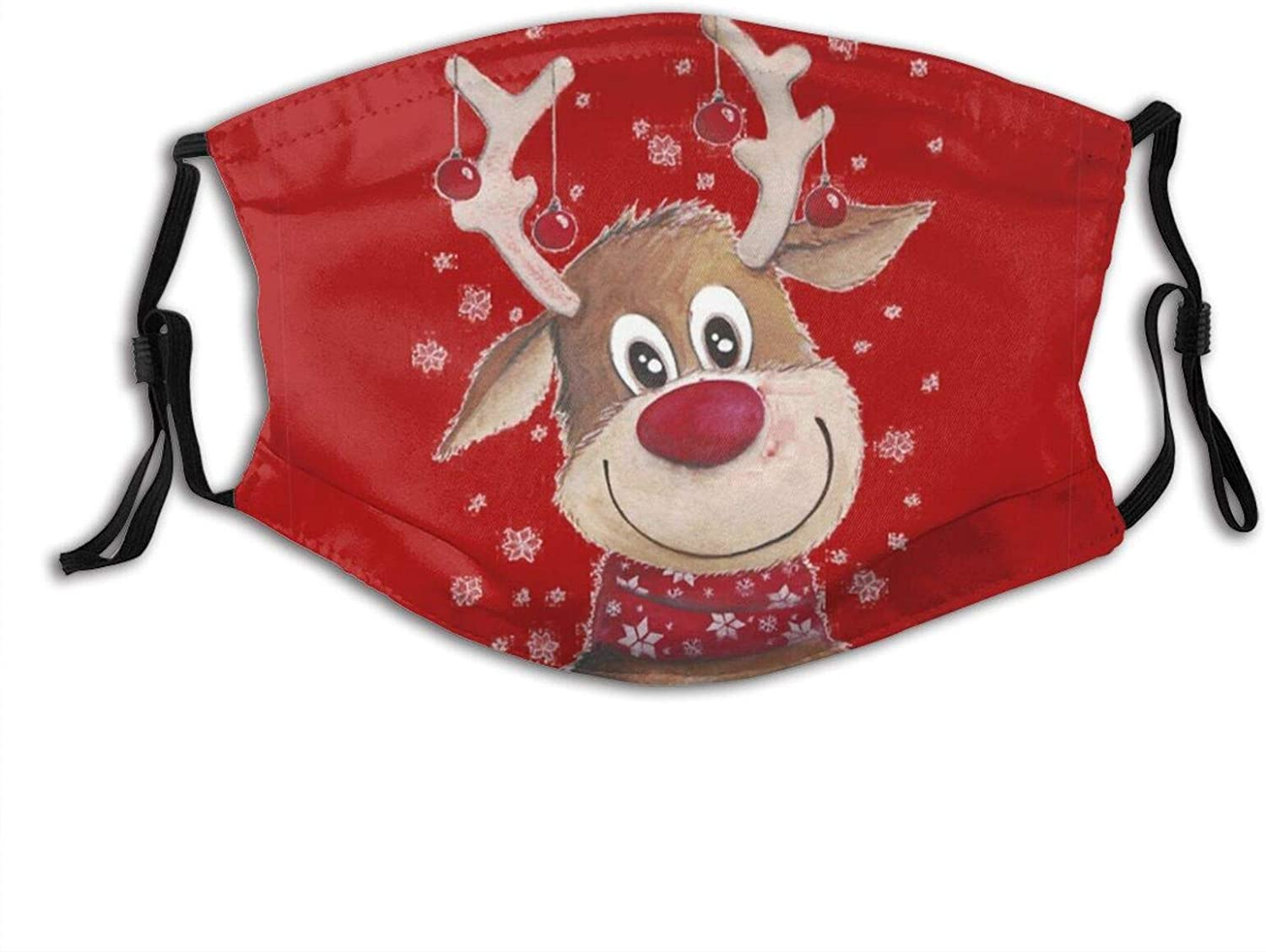 Happy Christmas Face Mask Comfortable Merry Christmas Balaclavas, Breathable-Muffle With Filter