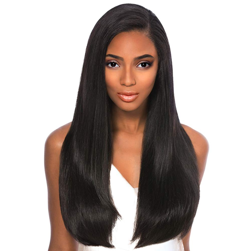 ISHINE 24 Inch Long Free Part FULL LACE Wigs Human Hair Pre Plucked - 100% Straight Remy Human Hair Wigs For Black Women 150 Density - Large Head Size Wigs For White Women Unprocessed Natural Black