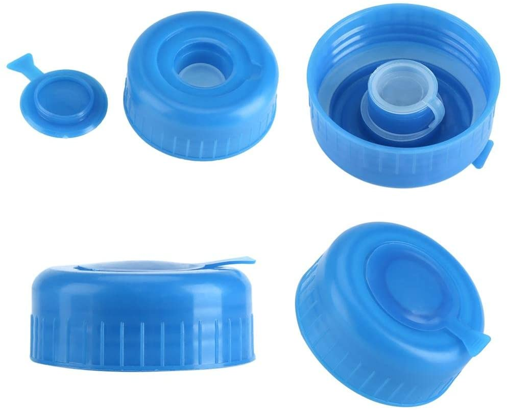 FastUU Simple and Modern Design Gallon Water Bottle Cap 5 Pcs Blue Gallon Water Bottle Caps Safe Water Bottle Caps Gallon Water Bottle Cap, Gallon Water Bottle Lid, Reusable Screw On Cap