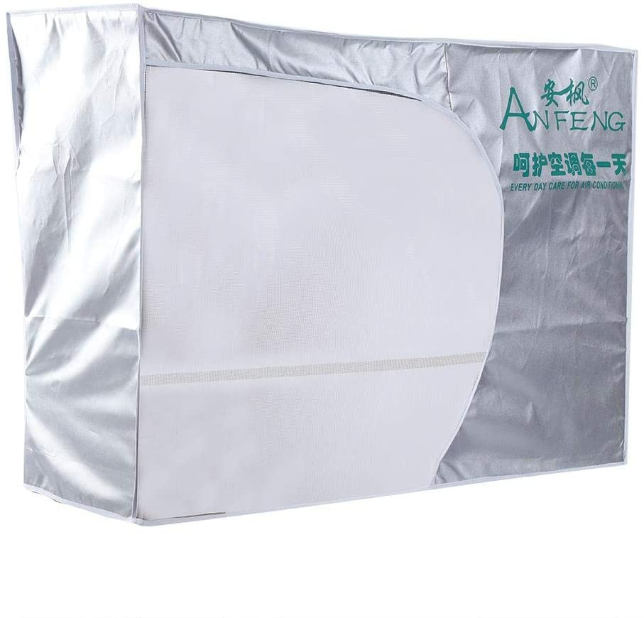 Air Conditioner Cover Anti-Dust Anti-Snow Waterproof Sunproof Home Air Conditioner Parts Outdoor Cover(3P 92 x 35 x 69cm)