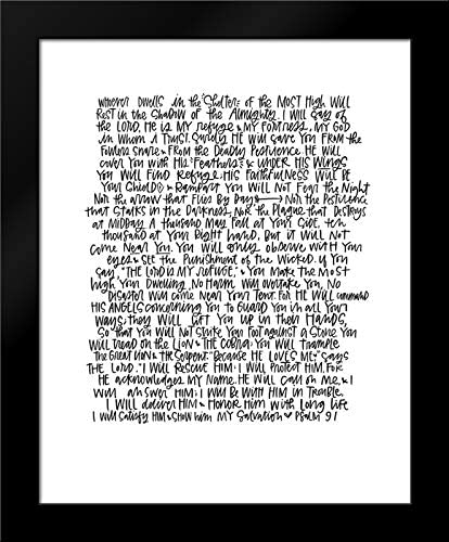 Wieners, Valerie 20x24 Black Modern Framed Art Print Titled Psalm 91