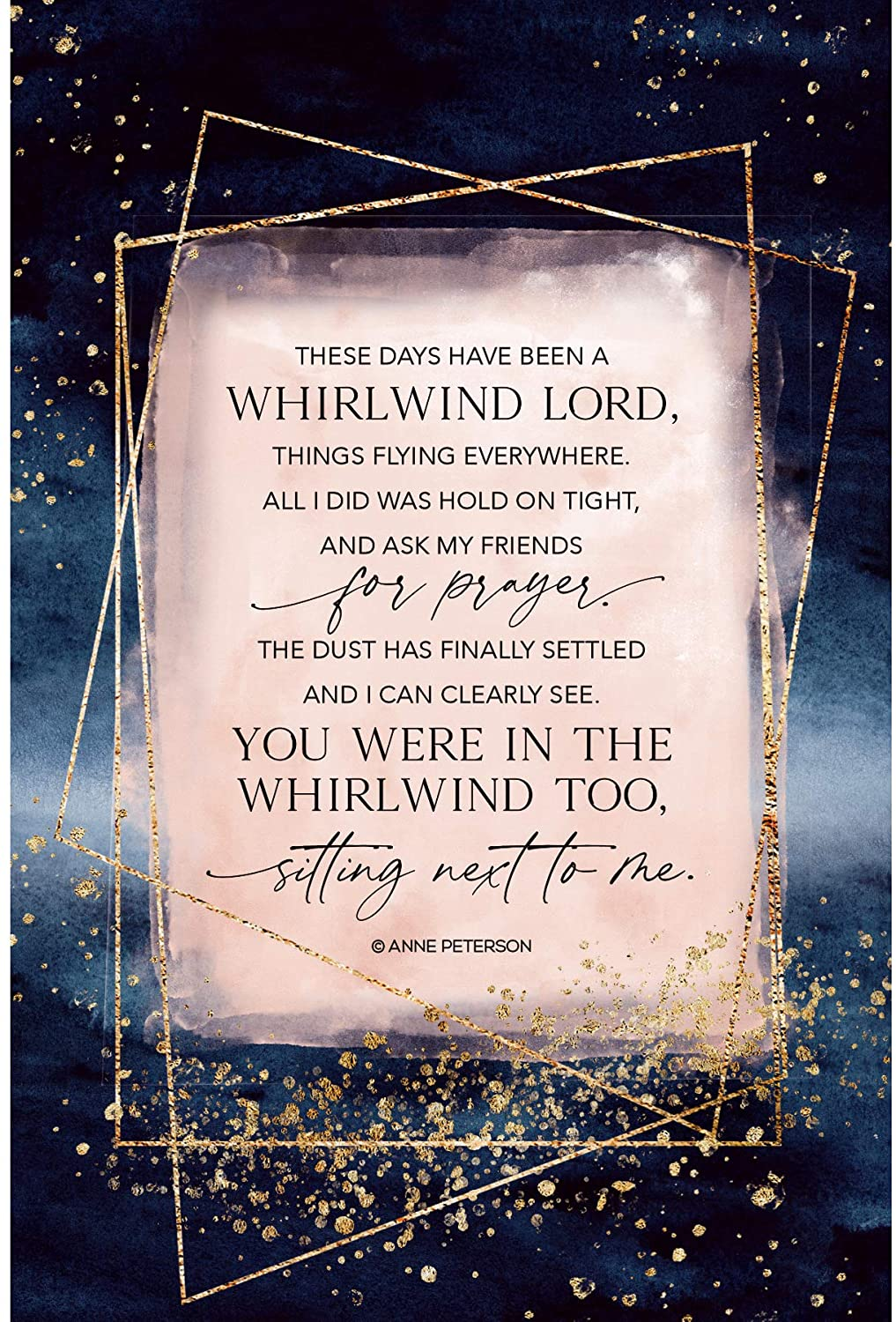 Wood Plaque with Inspiring Quotes 6 inches x 9 inches - Elegant Vertical Frame Wall & Tabletop Decoration | Easel & Hanging Hook | These Days Have Been a Whirlwind Lord, Things Flying Everywhere