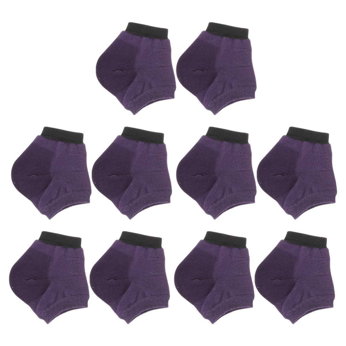 EXCEART 5 Pairs Heel Moisturizing Socks Open Toe Socks Cracked Gel Heel Socks for Dry Hard Cracked Heels Ventilate Gel Spa Soften Repair Feet Socks