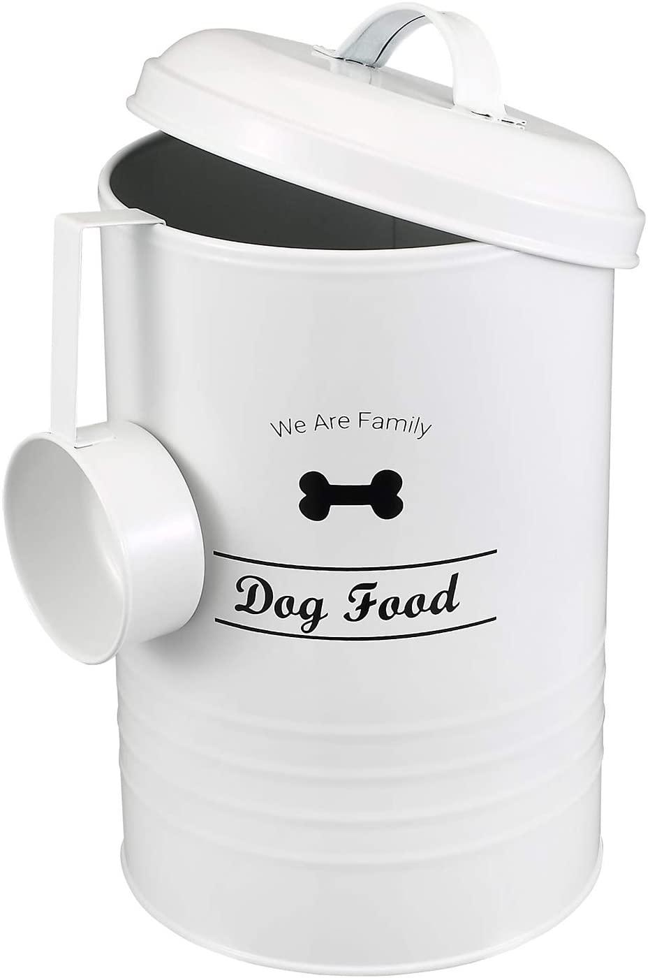 Brabtod Circular Design Pet Food Treat Canister Dog Treat Serving Scoop