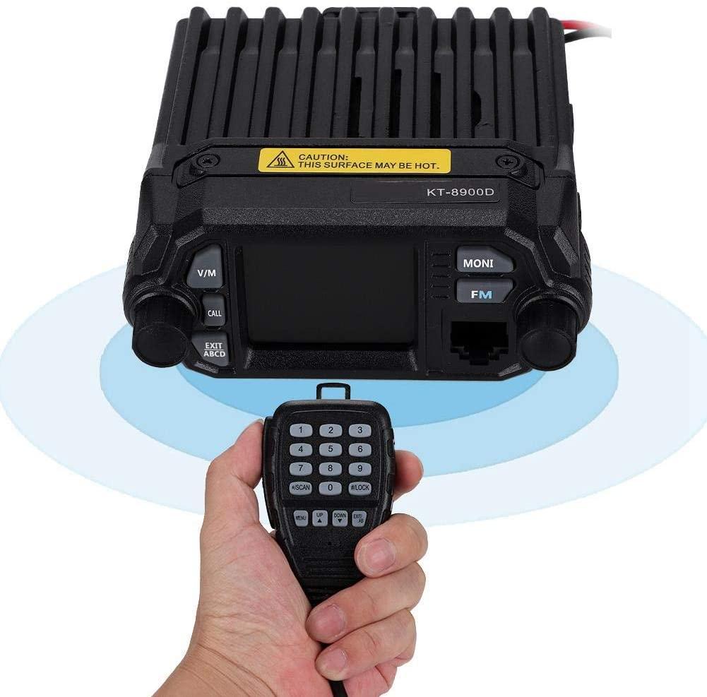 Tosuny Mobile Ham Radio Transceiver KT8900D Quad Band UHF VHF, Mini Color Screen Multi-Functional UV Mini Car Mobile Radio Player with Long Range.