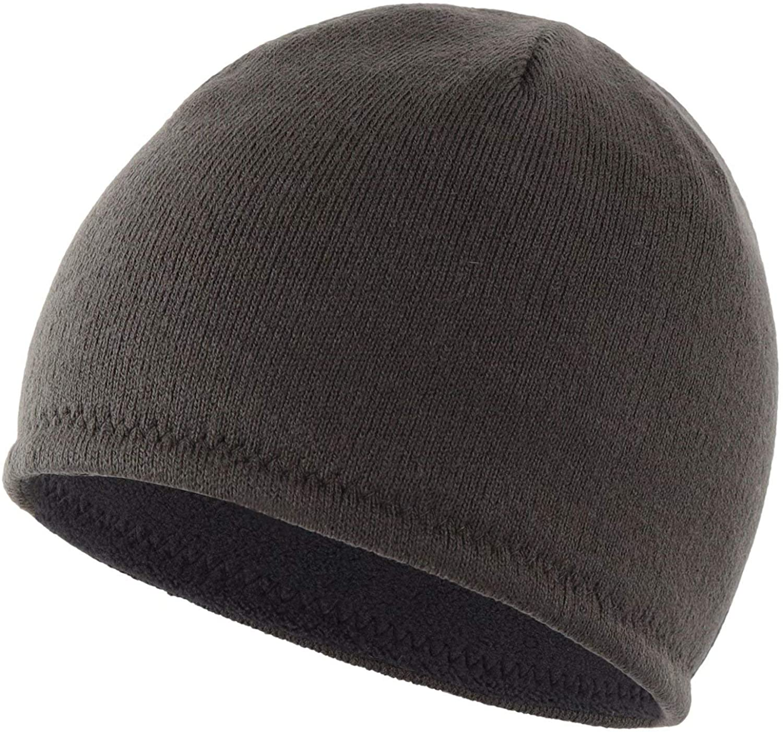 Connectyle Mens Fleece Reversible Beanie Hat Skully Beanies Warm Winter Hats