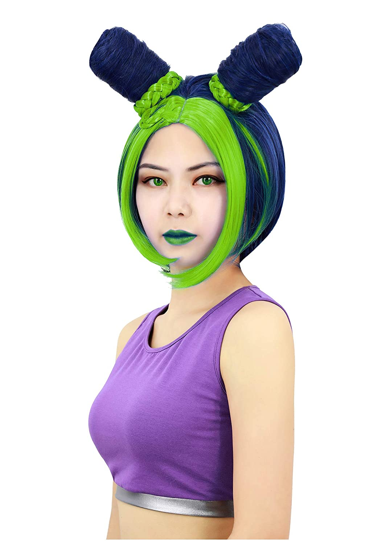 C-ZOFEK Jolyne Kujo Cosplay Wig Green (green)