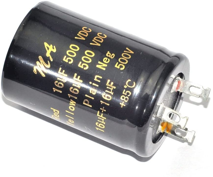 Cary 1pc 500v 16uf + 16uf 85c Can Eelectrolytic Capacitor for Tube Amp Audio Part
