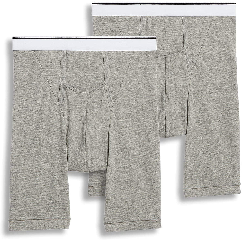 Jockey Men's Underwear Pouch Midway Brief - 2 Pack, Grey Heather, L