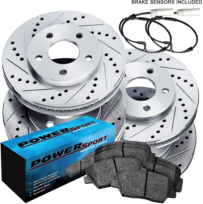 Fit 1997-2004 Porsche Boxster PowerSport Full Kit Brake Rotors Kit+Ceramic Pads