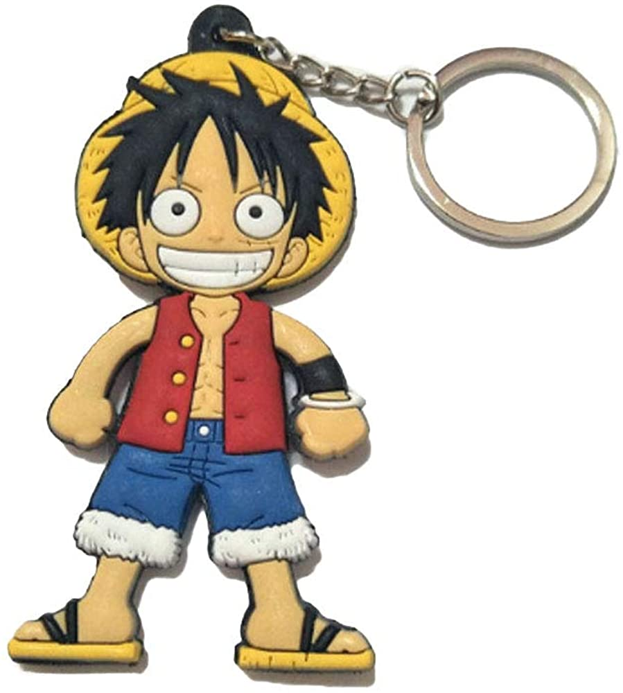 DOFE One Piece Keychain,PVC Keychains,keychains for kids,keychains for backpack.