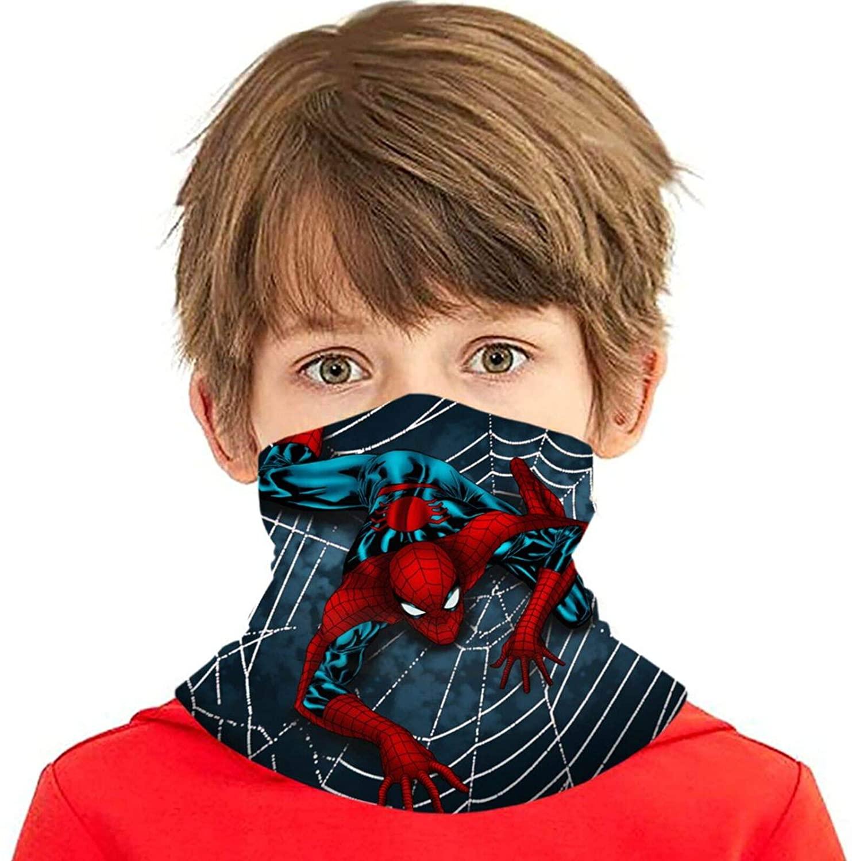 Beanco Tech Super Hero Bandanas for Dust Neck Gaiter Kids Face Cover Reusable Half Face Balaclava