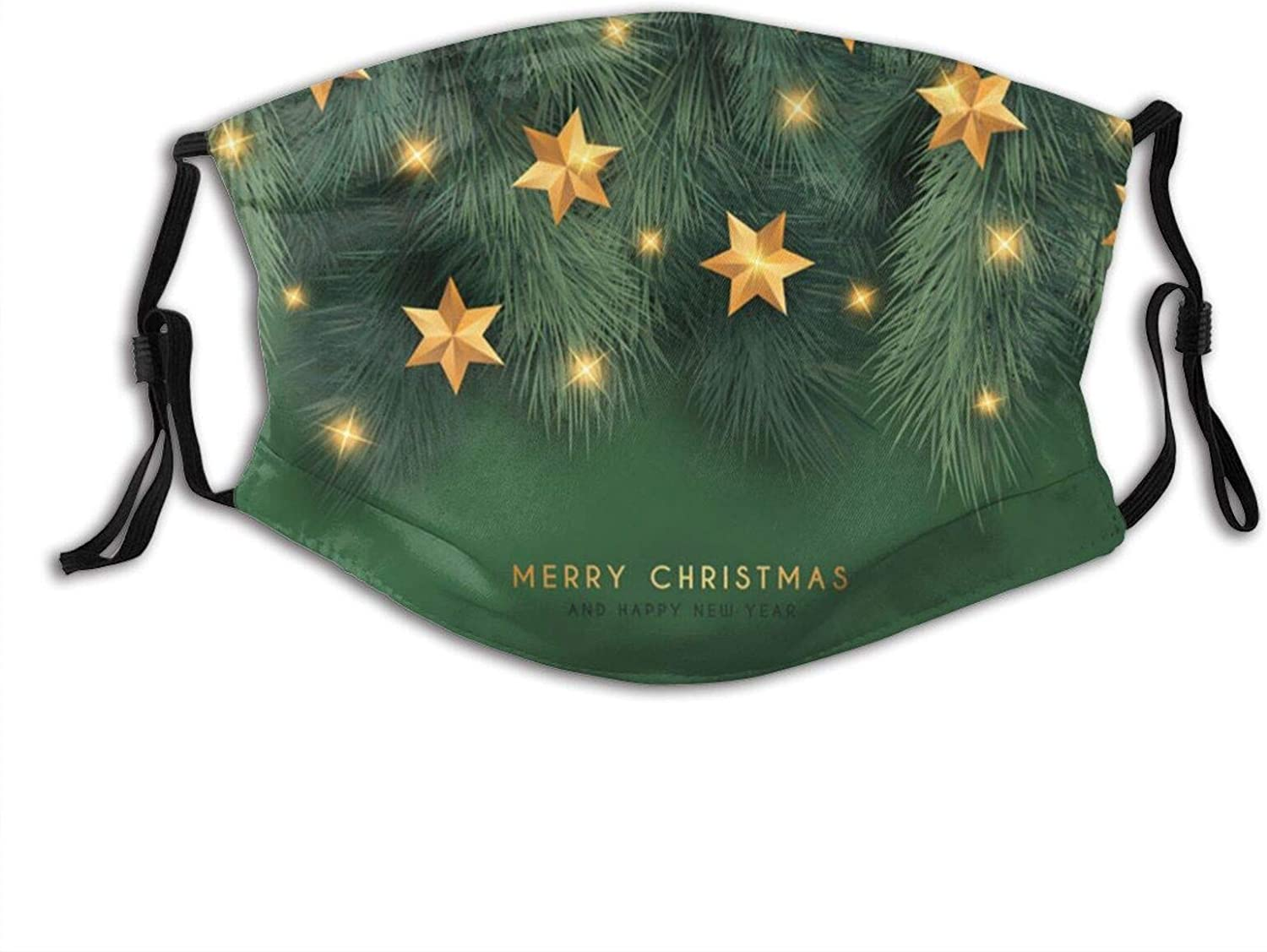 Watercolor Christmas Face Mask, Fashionable Christmas Balaclavas Dustproof-Washable& Reusability With 2 Filters