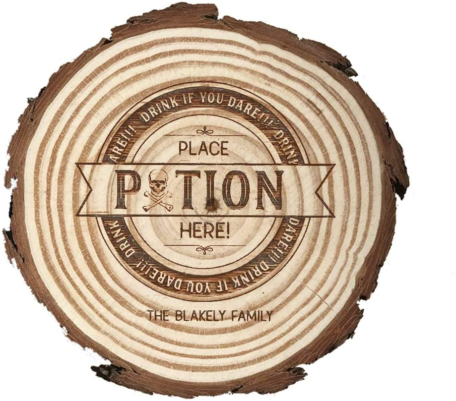 Personalized custom carved coasters, natural wooden coasters, custom coasters,wooden slice coaster.(4 pieces/set)(BD-15)
