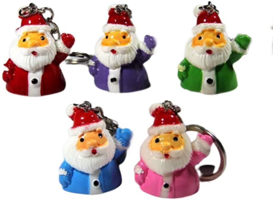 5pcs CHRISTMAS Key Chain Lovely CHRISTMAS Key Ring Santa Claus Keychain Cute Santa Claus Christmas Birthday Gift