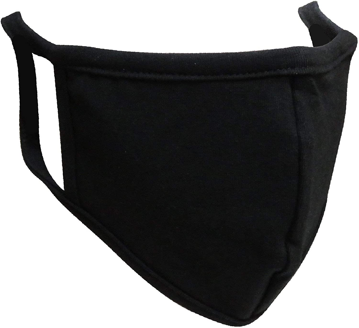 (MADE IN USA) Washable & Reusable Cotton Facial Mask - Face Mask & Coverings(Black-5 Mask)