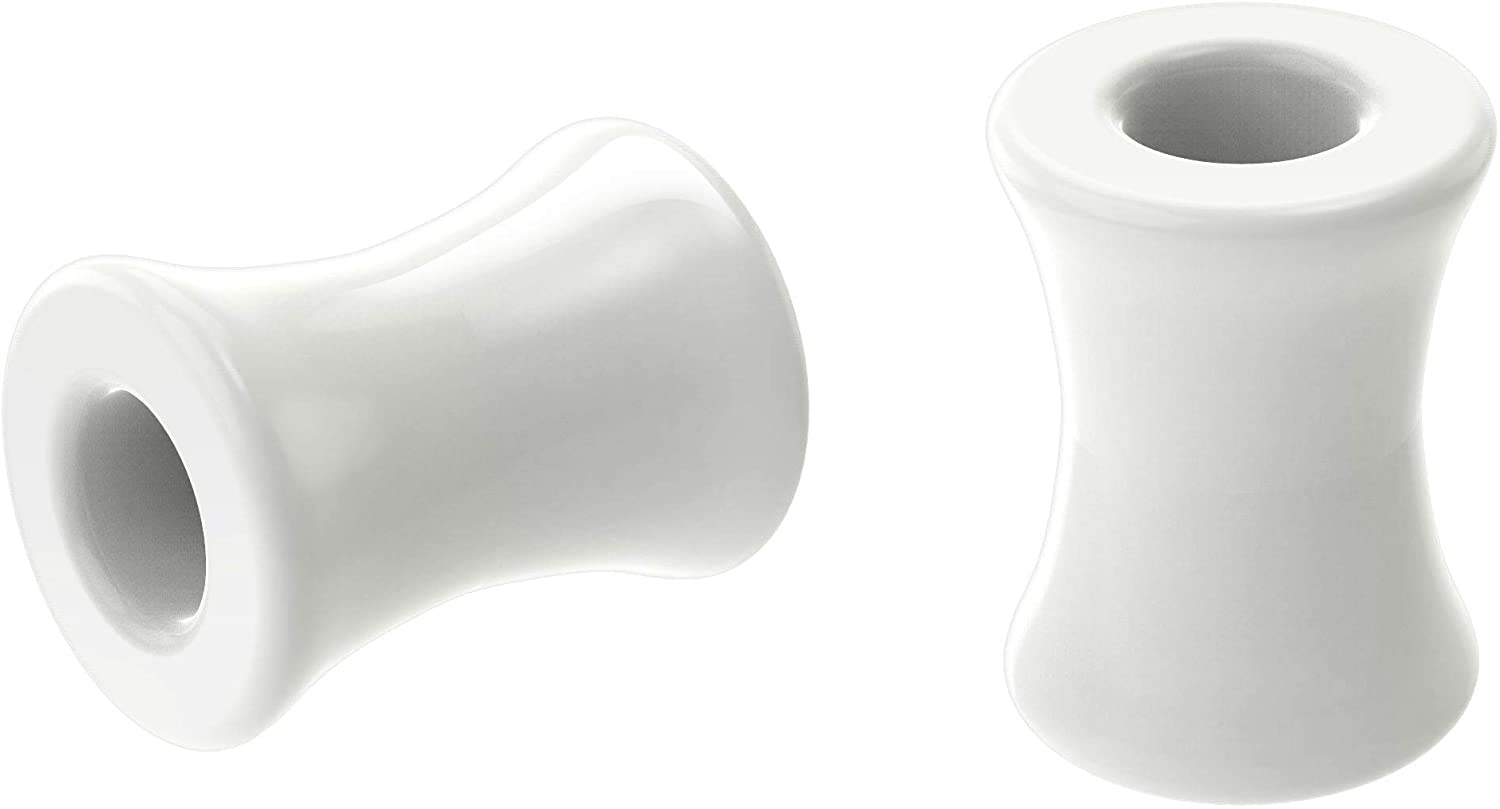 2pc White Acrylic Double Flared Flesh Tunnels Gauges Plugs Stretching Kit Stretchers Ear Piercing