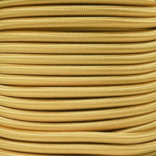 Paracord Planet 1/4 Inch Elastic Cord Crafting Stretch String, Made in USA (10 Feet, Yellow)